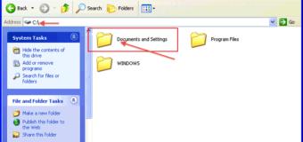 Где находится Documents and settings в Windows 10