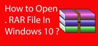 Как открыть RAR файл для Windows 10
