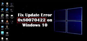 Исправить ошибку 0x80070422 Windows 10