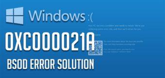 Как исправить ошибку 0xc000021a в Windows 10
